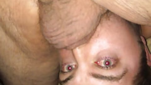 Throat Fag gagging on daddy cock!