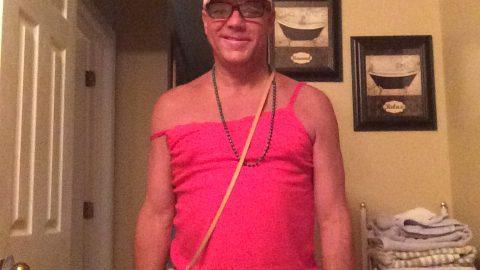 Doug Aube wears Tampons