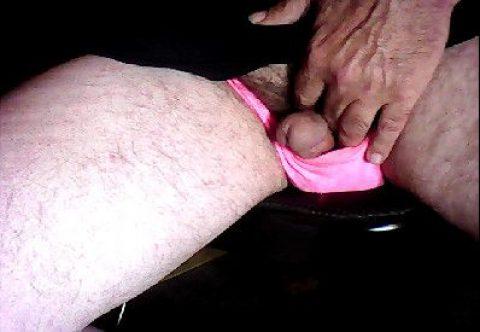 My sissy 2 inch Micro-dick in my pink panties