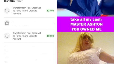 PAUL GREENWELL IS OWNED AND GIVES ALL HIS MONEY TO MASTER ASHTON