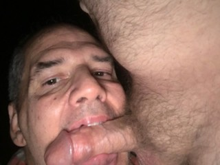 Me sucking Janices new boyfriends cock after she dumped me